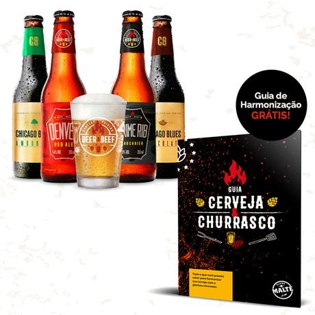 Clube de Cervejas Beer Pack - 4 Cervejas e 1 Copo (Assinatura)