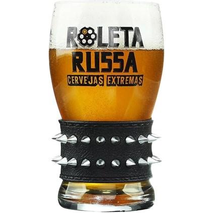 Copo de Cerveja Roleta Russa Pulseira Preta 320ml