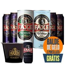 Kit Apaixonados Por FAXE - Compre 6 Cervejas e Leve Balde de Gelo + Porta Latas Grátis!