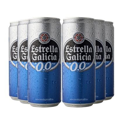 Kit de Cerveja Sem Álcool - Estrella Galicia - Compre 4 e Leve 6!