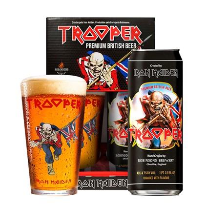Kit de Cerveja Trooper Iron Maiden Lata + Copo