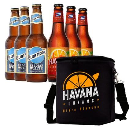 Kit de Cervejas Blue Moon + Havana Dreams Com Bolsa Térmica