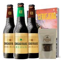 Kit de Cervejas Chicago Blues - Compre 3 e Ganhe Chocolate Grignotine Grátis