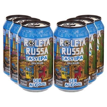 Kit de Cervejas Roleta Russa Easy IPA Sem Álcool e Sem Glúten - Compre 5 e Leve 6