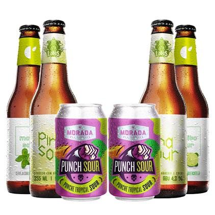 Kit de Cervejas Sour em Dobro - Compre 3 e Leve 6