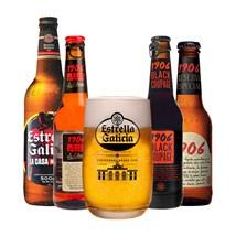 Kit Estrella Galicia - Compre 4 Cervejas e Ganhe Copo Exclusivo da Marca
