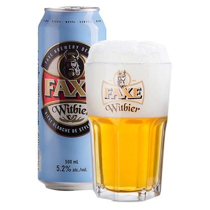 Kit Faxe Witbier - Compre 1 Cerveja e Leve 1 Copo Witbier Exclusivo da Marca