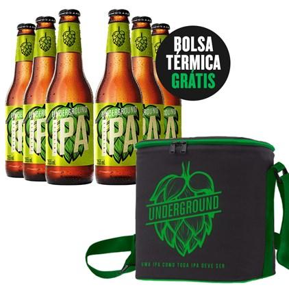 Kit IPA - 6 Cervejas + Bolsa Térmica Underground