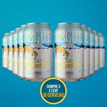 Kit Rogue Yellow Snow Pilsner Lata 355ml - Compre 5 Leve 10